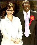 David Lammy with Cherie Blair