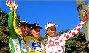 Erik Zabel, Lance Armstrong and Richard Virenque
