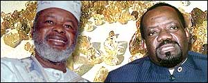 Foday Sankoh, rebel leader in Sierra Leone, and Jonas Savimbi, Unita leader in Angola
