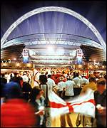 An artist's impression of the new Wembley