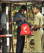 Polic checkpost in Colombo
