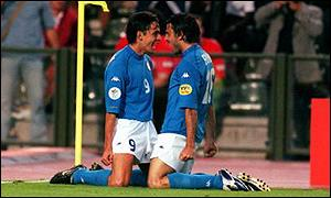 Fiore celebrates his wonder strike with Inzaghi