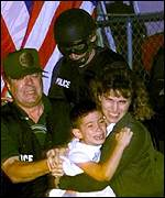 Elian Gonzalez seized by US agents