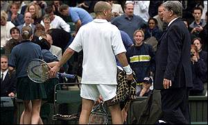Andre Agassi and Alan Mills