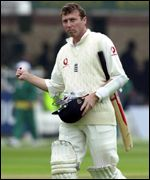 Mike Atherton fell to Courtney Walsh