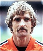 Frans Thijssen lines up for Holland in 1980