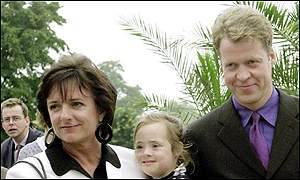 Rosa and Domenica Monckton with Earl Spencer