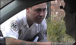 North Yorkshire paramedic at window of car