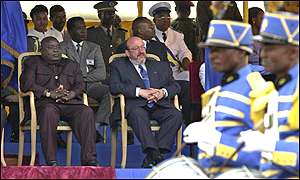 President Kabila and Belgian Foreign Minister Louis Michel