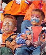 Young Dutch fans stunned by defeat
