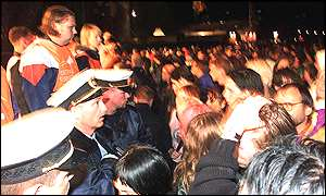 The eight people killed Roskilde were crushed or trampled as fans surged forward during a performance by Pearl Jam
