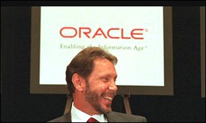 Oracle's flamboyant boss Larry Ellison dominates the company