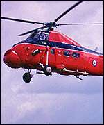 Wessex helicopter of the Royal Flight