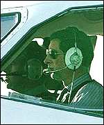 Prince Charles in Royal aircraft
