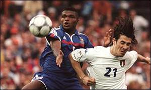 Marcel Desailly - slammed for elbow on Cannanvaro