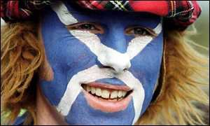 Scotland fan in C U Jimmy hat