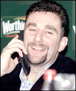 John Aldridge on phone