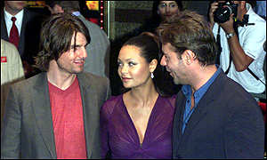 Tom Cruise, Thandie Newton and Russell Crowe at the Empire Leicester Square, London