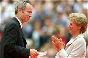 John McEnroe and the Duchess of Gloucester