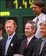 With Becker, Ivanisevic and Borg