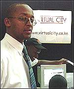David Kiania of Virtual City company in Nairobi