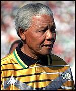 Nelson Mandela wears South Africa's colours