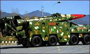 A mobile missile launcher