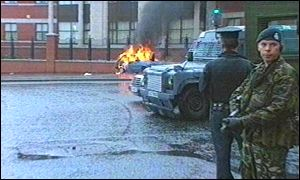 Police have called in army back-up in Belfast
