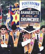 The Orange Order marching at Drumcree