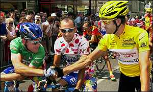 Tom Steels, Paolo Bettini and Laurent Jalabert