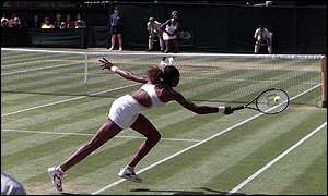 The Williams sisters on Centre Court