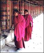 Monks in Xiahe, Gansu province
