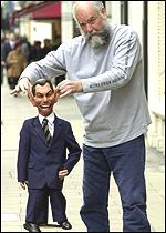 Roger Law and his Tony Blair puppet