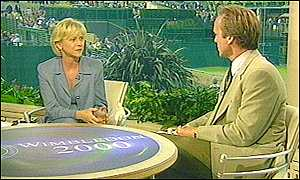 Sue Barker and John Lloyd