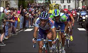 Paolo Bettini and Jose-Angel Vidal