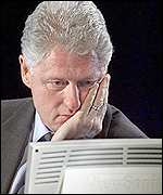 Bill Clinton using the internet