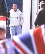 Johnny Adair spotted at the Belfast protests