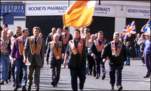 Orangemen around province support call for protest: Carlisle Circus Belfast