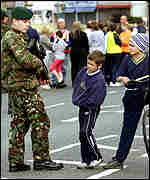 Army on patrol in Belfast