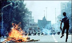 Street battle, Tehran - 13 July 1999