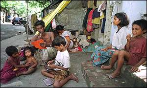 A poor family in India