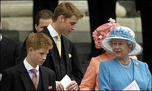 Harry, William and the Queen
