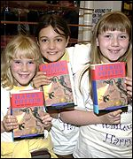 Charlotte Parfitt, Holly Gilbertson and Stephanie McCall, all aged nine, from London