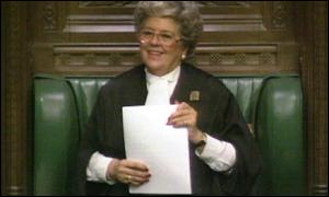 Retiring Commons Speaker Betty Boothroyd