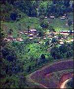 An ethnic Burmese settlement where it is believed illegal drugs are manufactured