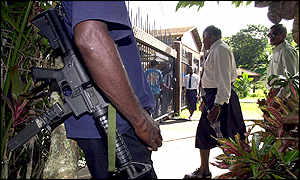 Armed rebels continue to guard the parliament in Suva