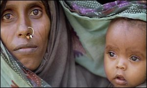 Eritrean woman and child