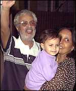 Mahendra Chaudhry, wife Virmati and granddaughter Sonia
