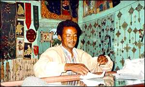 Kassahun Abraha in his shop