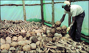 remains of genocide victims